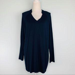 Cabi V-Neck Black Pullover Long Sleeve Top Sz L